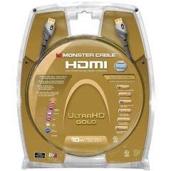 Monster: UltraHD Gold HDMI kabel met Ethernet - 10 meter