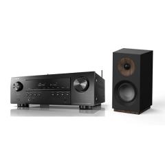 Doubledeal: Denon Avr-s650H receiver + Jamo S 801 boekenplank speakers - Zwart