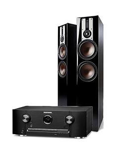 Doubledeal: Marantz SR5015DAB Receiver + Dali Opticon 6 speakers (2stuks) - Zwart