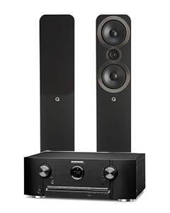 Doubledeal: Marantz SR5015DAB Receiver + Q-Acoustics 3050i Speakers (2stuks) - Zwart
