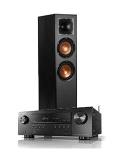 Doubledeal: Denon Avr-s650H receiver + Klipsch R-620F speakers (2stuks) - Zwart
