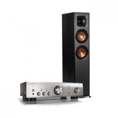 Doubledeal: Denon PMA-600NE versterker zilver + Klipsch R-620-f vloerstaande speaker (2x) zwart