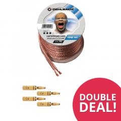 DoubleDeal : Oehlbach speakerkabel (20m) + 8x Banaanstekkers
