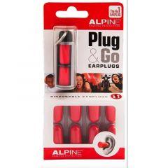 Alpine: Plug & Go Earplugs / Oordoppen - Rood