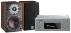 DoubleDeal: Denon RCD-N10 + Dali Oberon 1 Stereo Set - Dark Apple