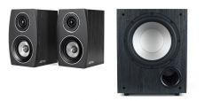 Jamo: Combinatie Pack C 912 Subwoofer + C 93 II Boekenplank Speakers - Zwart