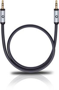 Oehlbach: i-Connect Jackplug Aansluitkabel 3,5mm - 1,5 meter - Zwart