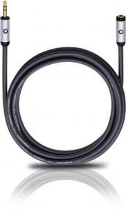 Oehlbach: i-Connect 3,5mm Jackplug (f)-(m) - 3 meter - Zwart