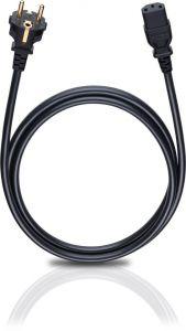 Oehlbach: Voedingskabel C13 Trapezium - 3 meter - Zwart