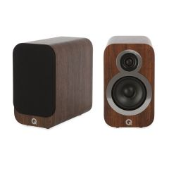 Seconddeal: Q Acoustics 3010i Boekenplank Speakers 2 Stuks - English Walnut