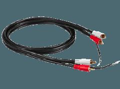 RCA: Phono Cable 1,50m - Zwart