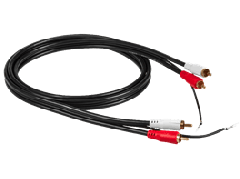 RCA: Phono Cable 2,5 meter - Zwart