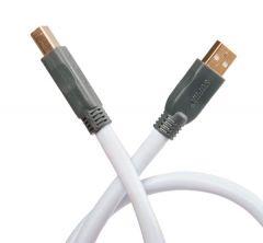 Supra: USB 2 Meter Usb kabel - Wit