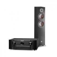 Doubledeal: Marantz SR6015 zwart + Dali Oberon 7 vloerstaande speaker (2x) zwart