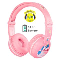 Buddyphones: Play Over-ear BT hoofdtelefoon - Roze
