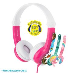Buddyphones: Connect On-Ear hoofdtelefoon incl. Microfoon - Roze