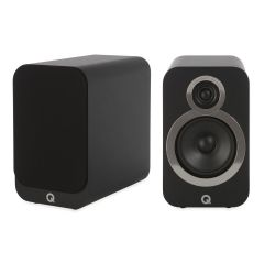 Seconddeal: Q Acoustics 3020i Boekenplank Speakers 2 Stuks - Carbon Black