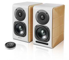 Edifier: S880DB - 2 stuks - Wit met houtkleurige zijkanten
