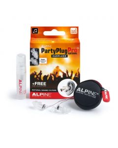 Alpine: PartyPlug Pro Natural Earplugs / Oordoppen - Transparant