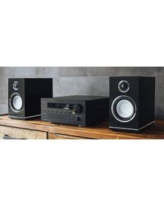 Magnat: MC 100 CD-Receiver Quantum Edelstein Set - Zwart