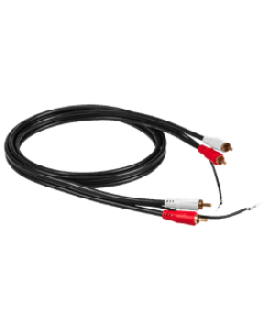 RCA: Phono Cable 2,0m - Zwart