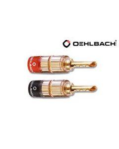Oehlbach: Banana Solution Stekker < 6mm² - 4 stuks - Goud