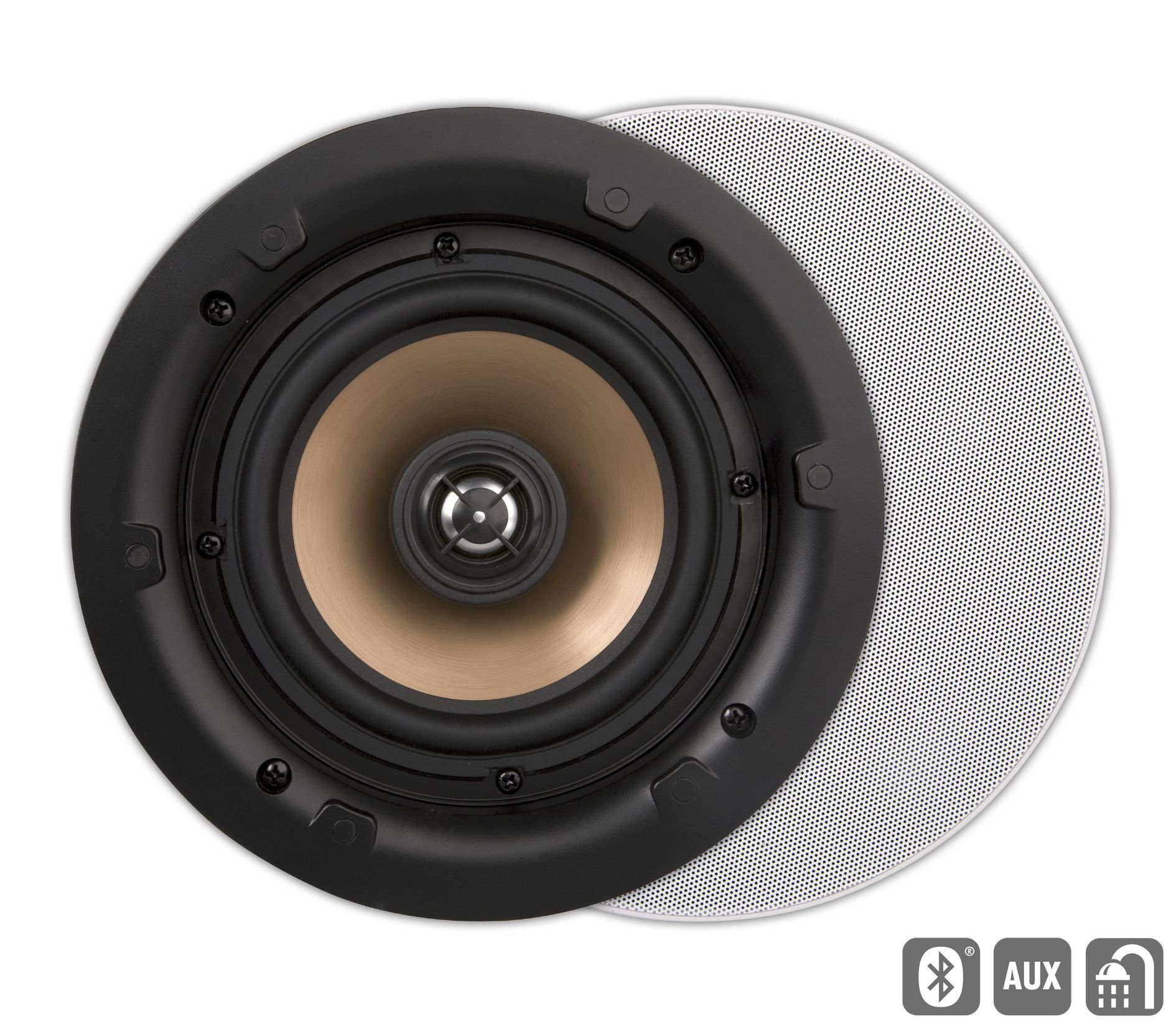 ArtSound HPRO650BT, Happi, actieve inb. LS, rond, wit (2pc)