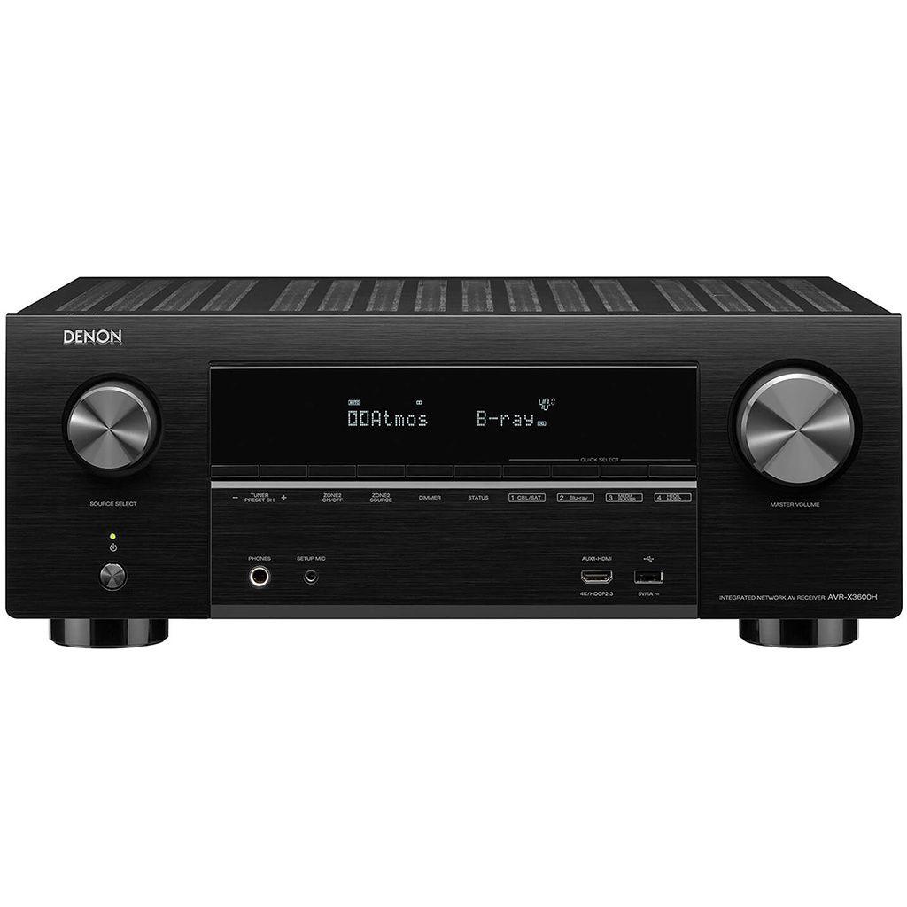 Denon: AVR-X3600H Surround receiver Zwart