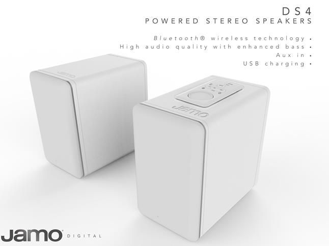 Jamo: Digital DS4 Wireless Bookshelf Speakers Wit