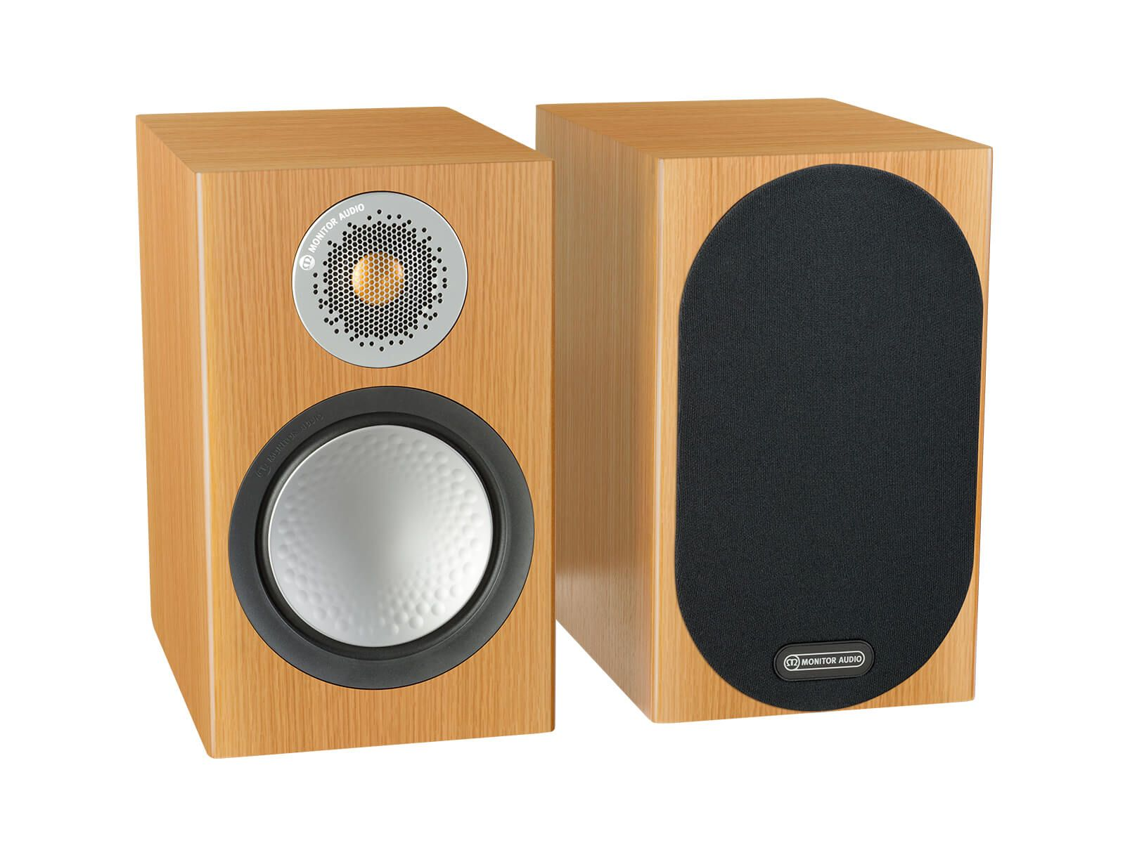 Monitor Audio: Silver 50 Boekenplank Speakers 2 stuks - Natural Oak