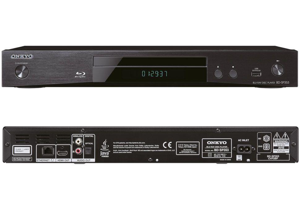 SecondDeal: Onkyo BD-SP353 Blu-ray Speler - Zwart