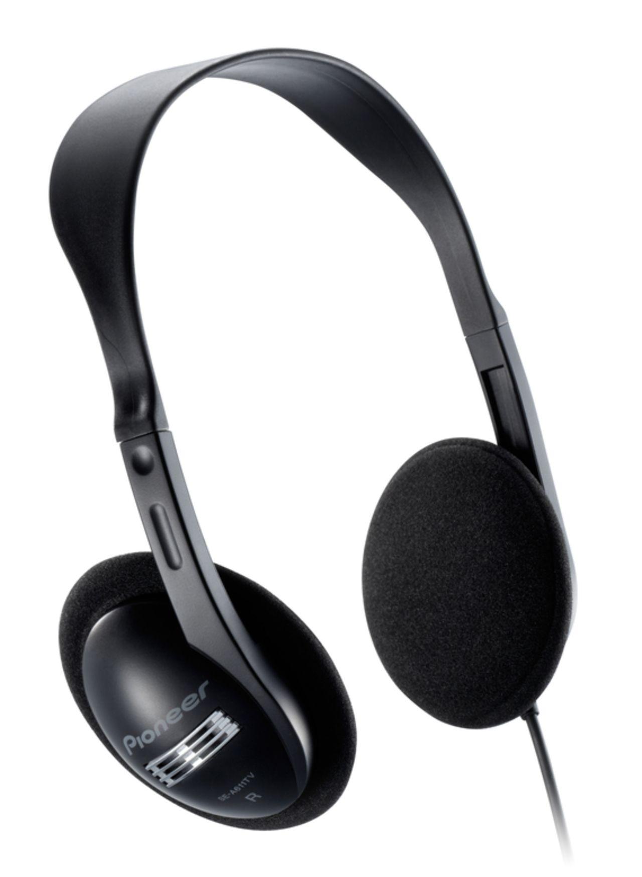 Pioneer multimedia SE-A611 open hoofdtelefoon zwart