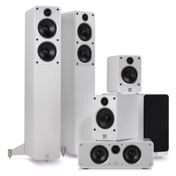 Q Acoustics: 5.1 Homecinema Pack – Wit kopen