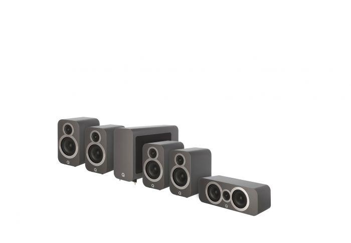 Q Acoustics: Q3010i 5.1 Homecinema Pack – Grijs kopen