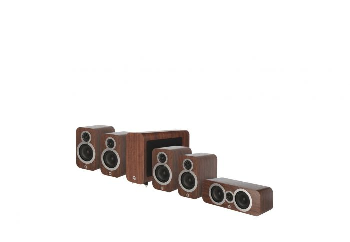 Q Acoustics: Q3010i 5.1 Homecinema Pack – Walnoot kopen
