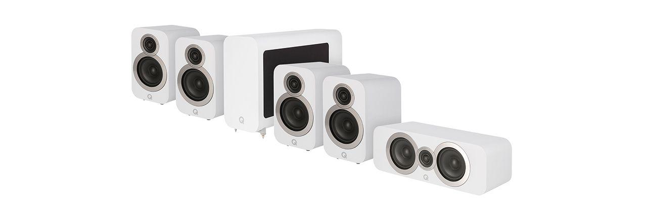 Q Acoustics: Q3010i 5.1 Homecinema Pack – Wit kopen