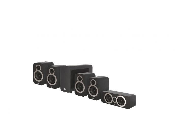 Q Acoustics: Q3010i 5.1 Homecinema Pack – Zwart kopen