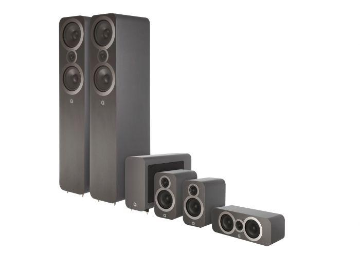Q Acoustics: Q3050i 5.1 Homecinema Pack – Grijs kopen