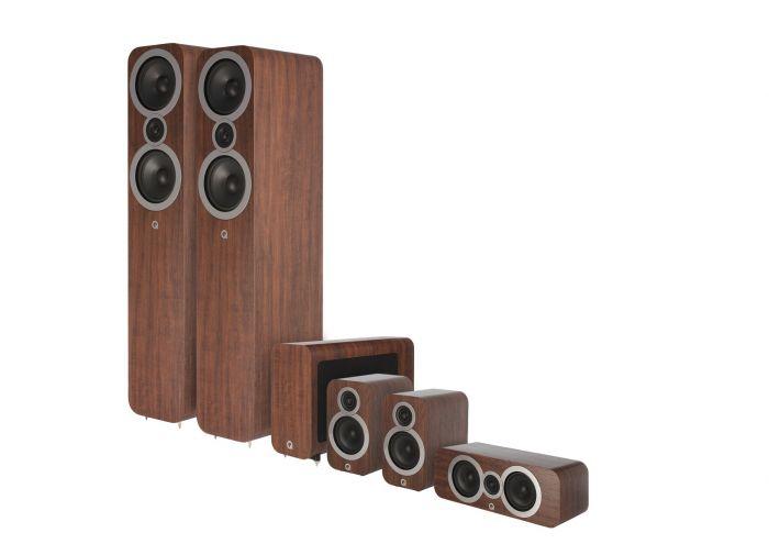 Q Acoustics: Q3050i 5.1 Homecinema Pack – Walnoot kopen