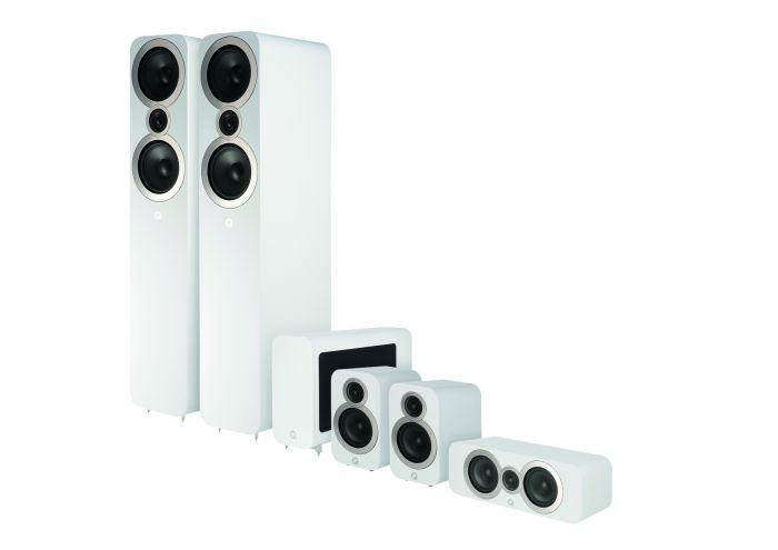 Q Acoustics: Q3050i 5.1 Homecinema Pack – Wit kopen