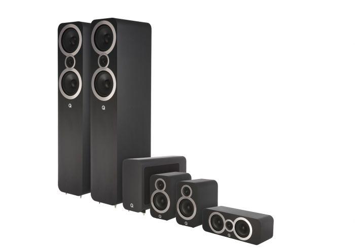 Q Acoustics: Q3050i 5.1 Homecinema Pack – Zwart kopen