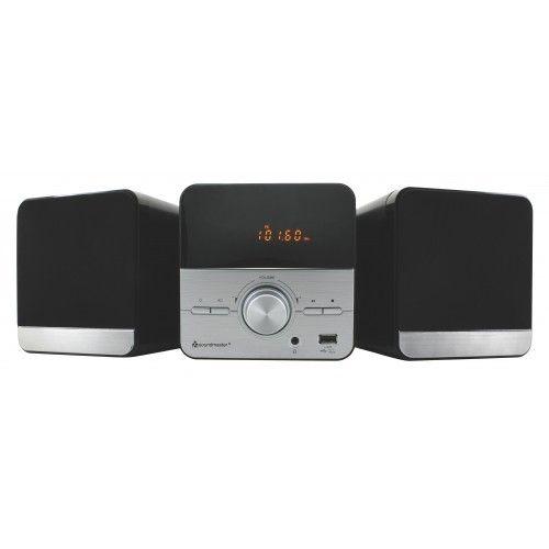 Soundmaster MCD370SIStereo-installatie (CD, MP3, USB, FM-radio),2x 2 watt, zwart, zilver