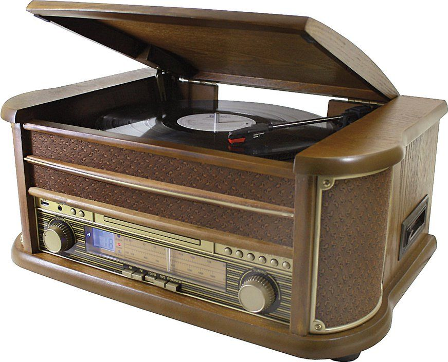 De soundmaster nr513a is een alles in 1 platenspeler met bluetooth connectiviteit. hij speelt niet alleen ...