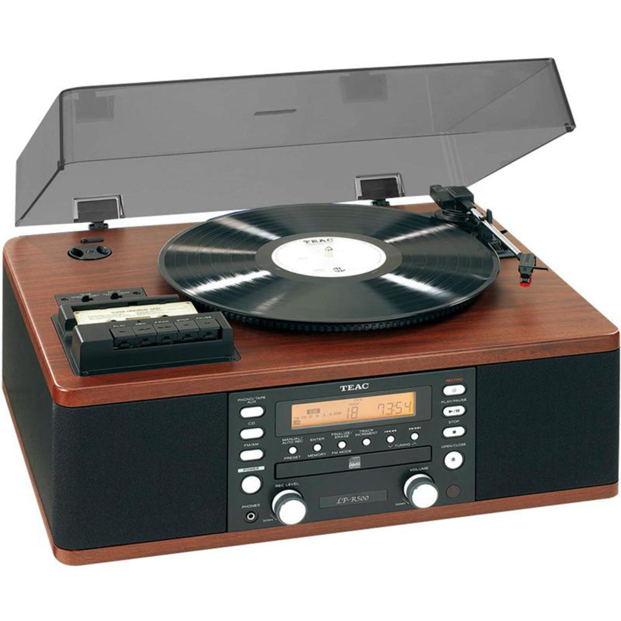 TEAC: LP-R500 AW All-in-one Platenspeler Hout