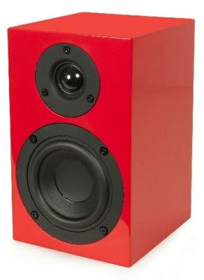 Project: Box-Design Boekenplank Speakers 4 Rood