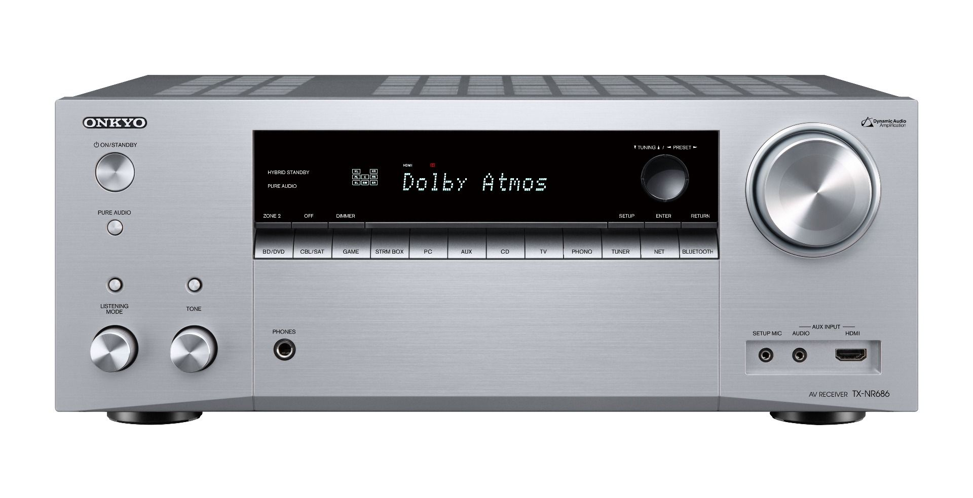Onkyo: TX-NR686 7.2 Surround receiver Zilver
