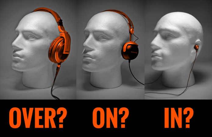 De juist hoofdtelefoon kiezen