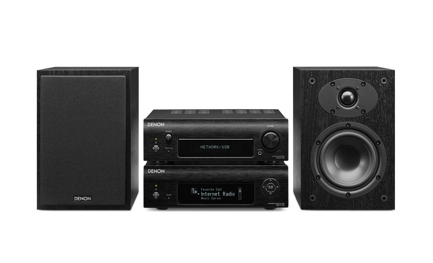 Denon D-F109 Zwart/zwart Hifi Set