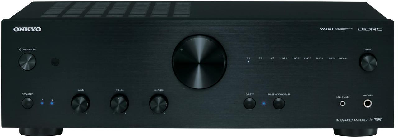 Onkyo: A-9050 Stereo versterker Zwart