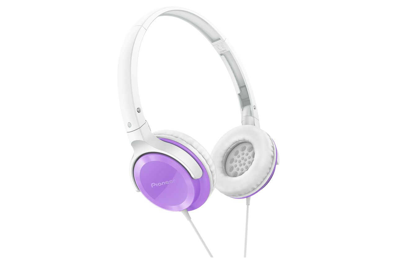 Pioneer: SE-MJ502-V On-Ear Violet